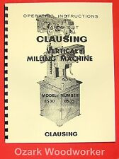 CLAUSING 8530-8535 Vertical Milling Machine Instruction & Parts Manual 0150