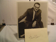 Steve Allen, Autograph, Original Host Tonight Show, Authur, Music, Movies, STAR