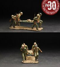 Figarti Miniatures PTA-010 Stretcher Team - 4 US Marines carry wounded Marine