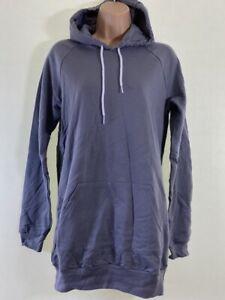 BNWOT AMERICAN APPAREL grey long longline hoodie hoody size one size fits 8 - 10