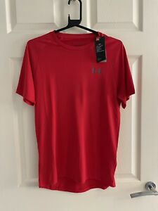 Under Armour Men's Red Running Exercise Sports Top T-shirt, XS BNWT
