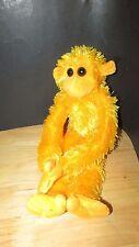 Yellow orange Plush long monkey squeals hangs by hands feet Clingin critters