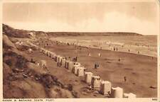 uk13811 sands and bathing tents filey real photo uk