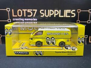 2021 Tarmac Works Collab64 Yellow Mooneyes TOYOTA HIACE WIDEBODY Low Stance 1:64