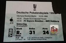 Orig.Ticket DFB Pokal Finale 97/98 Bayern München MSV Duisburg Eintrittskarte