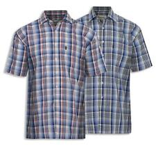 Men's Champion Chester 100% Cotton Check Short Sleeve Shirt UK M-3XL