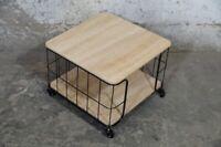 Couchtisch Beistelltisch Holz Metall Industrial Loft Modern Korb braun schwarz