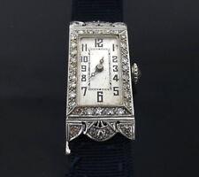 Antique Art Deco Blancpain 0.75ct Diamond & Platinum Elongated Lady's Watch