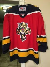 NHL Florida Panthers CCM Hockey Sweater Men s Size Large 9e796e4ab