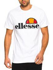 ellesse Mens Classic Prado Print Logo T-Shirt Print Top Tee Optic White