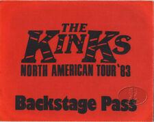 The KINKS 1983 North American Tour Backstage Pass