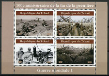 Chad 2019 CTO WWI WW1 End of World War I 4v M/S I Military Stamps