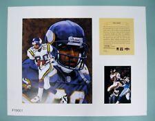 Chris Carter Minnesota Vikings 1997 NFL Football 11x14 Lithograph Print (scare)