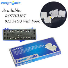 1pack Orthodontic Ceramic Bracket 022 345withh Mesh Base Dental Mini Brace Rothmb