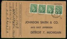 Mayfairstamps Canada Monoton to Johnson Smith co Detroit Cover wwf_91525