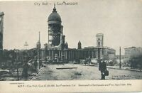 SAN FRANCISCO CA - City Hall (Cost $7,000,000) Destroyed by 1906 Earthquake -udb