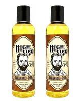 High Life Beard Oil Mustache & Beard Grooming Care 4 oz MADE IN USA - 2 BOTTLES