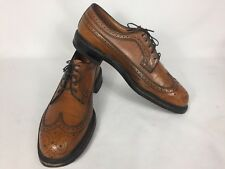 MEN'S VINTAGE  JOHNSTON & MURPHY ARISTOCRAFT WINGTIP OXFORD DRESS SHOES  9 D