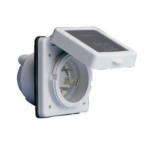 Marinco 301EL-B Easy Lock Inlet, 30a 125v (301elb)