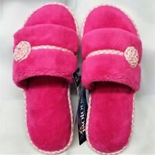 Isotoner Women's MICROTERRY Slide Slippers with MEMORY FOAM, AZALEA - Size 6.5-7