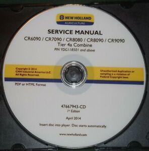 NEW HOLLAND CR6090 CR7090 CR8080 CR8090 CR9090 4A COMBINES SERVICE REPAIR MANUAL