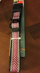 Kurgo Reflective Protect Night/Day Dog Collar Purple W/ Bottle Opener Large