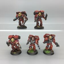 WARHAMMER 40,000 40K SPACE MARINES BLOOD ANGELS ASSAULT SQUAD JUMP PACKS PAINTED