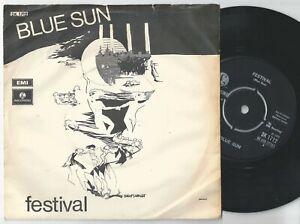 "BLUE SUN Festival / Katedralen Danish Prog Rock 45PS 1970. Parlophone 7"""