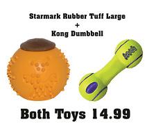 Starmark Rubber Tuff Treat Ball Lge + Kong Dumbbell - NQP