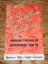 1951 Genuine Chevrolet Accessories Sales Brochure 51 Chevy