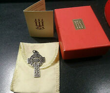 James Avery Sterling Filigree Cross Pendant 4.3g / Box / Felt Pouch / Manual