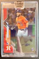 2020 Topps Clearly Authentic ABRAHAM TORO Autograph Red Parallel SP /50 Astros