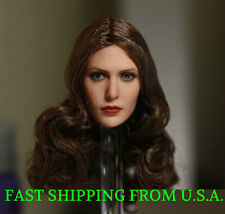 1/6 Scarlet Witch Elizabeth Olsen Head Sculpt For Phicen Hot Toys Figure ❶USA❶