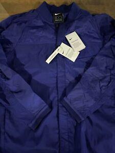 Mens Size Medium Nike Tech Pack Jacket Blue Snap Up CJ5157-590
