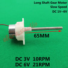 DC 3V~6V 21RPM Long Shaft Micro Turbine Worm Slow Speed Gear Motor DIY Parts Toy