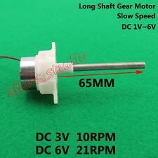 DC 3V~6V 21RPM Long Shaft Micro Turbine Worm Slow Speed Gear Motor DIY Parts Toy