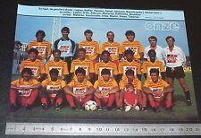 CLIPPING POSTER FOOTBALL 1985-1986 D2 FC MARTIGUES FRANCIS-TURCAN