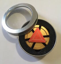 Iron Man Reactor Emblem Metal Fidget Spinner Handheld Toy (red center)