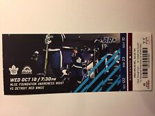 TORONTO MAPLE LEAFS VS DETROIT RED WINGS OCTOBER 18, 2017 TICKET STUB