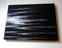Peinture tableau abstrait a l`huile sur bois format 63/47 cm finition brillante