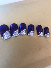 Two Sets Full Cover short false nails with glue In Stock Ready To Go