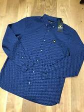 Brand new  Lyle & Scott slim fit gingham shirt  Regular fit  Storm blue  Large.