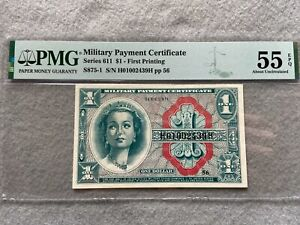 Military Payment Certificate $1 One Dollar PMG Certified