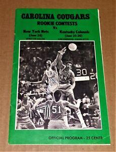 "1971 CAROLINA COUGARS ""Rookie Contests"" Program w/Signatures -Artis Gilmore? ABA"