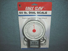 """EAGLE CLAW 50 LB. / 22KG DIAL SCALE AND 40"""" TAPE MEASURE 04070-003 - NEW SEALED"""