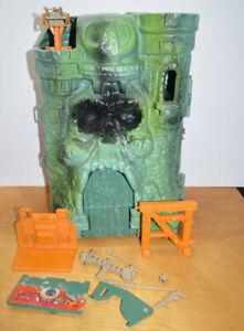 Vintage MOTU CASTLE GRAYSKULL Playset Incomplete He-man Mattel 1982 Throne