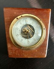 ANTIQUE GERMAN STURMISCH REGEN VERANDERLICH WETTER WALL BAROMETER GERMANY WOOD