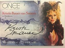 ONCE UPON A TIME SEASON 1 Cryptozoic : Kristin Bauer Straten MALIFICENT A8 Auto