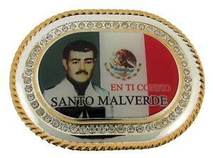 MALVERDE Sinaloa Santo NARCO-SAINT HEBILLA Mexican Vaquero Rodeo BELT BUCKLE new