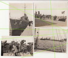 4 X Photo Torpedoboot Iltis à 1930/40 Marine de Guerre ! (F349